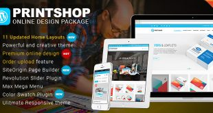 WordPress Printshop theme online design package