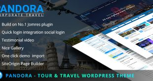 Pandora WordPress travel theme